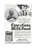 Advert for Cow and Gate Formula Milk Food 1928