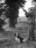 Hunter with Gun and Dog