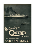 Advert for Osram Lamps  Installed on Queen Mary Ocean Liner