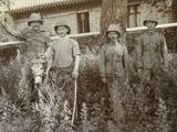 British Soldiers with a Donkey in China
