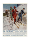 Advert for Burberry Winter Sports Wear 1928