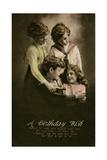 Four Children on a Birthday Postcard