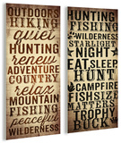 Outdoors And Hunting Typography Duo