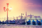 Amazing View of Grand Canal at Sunset with San Giorgio Maggiore Church San Marco  Venice  Italy  E