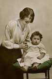 Gladys Cooper with One of Her Children