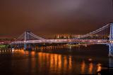Williamsburg Bridge at Night from Brooklyn Photo Poster