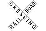 Railroad Crossing Crossbuck Traffic Print Poster