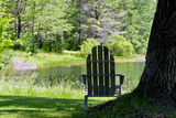 Seat Overlooking the Lake Photo Print Poster