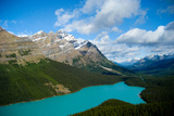 Banff Peyto Lake in Canadian Rockies Photo Print Poster