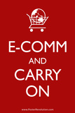 Ecom and Carry On Humor Print  Poster