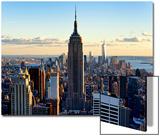 En ville au crépuscule, Empire State Building et One World Trade Center (1WTC), Manhattan, New York Acrylique par Philippe Hugonnard