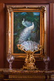 Victorian Peacock With Antiques Photo Print Poster