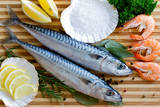 Seafood  Fish - Fresh Mackerel and Shrimps in Cuisine