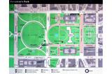 Map of Presidents Park Washington DC Photo Print Poster
