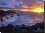 Sunset at Shark's Cove  Oahu  Hawaii