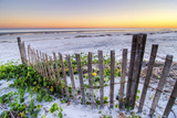 A Beach Fence at Sunset on Hilton Head Island  South Carolina