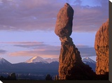 La Sal Mountains and Balanced Rock  Arches National Park  Utah