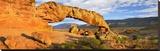 Panorama of Sunset Arch  Escalante National Monument  Utah