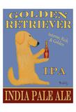 Golden Retriever India Pale Ale Reproduction pour collectionneurs par Ken Bailey