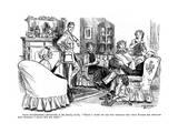 WW1 Cartoon - Family Knitting