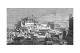 Pictorial Reconstruction of the Capitol  Rome  Italy