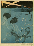 Mermaids and U-Boats Giclée par Georges Barbier