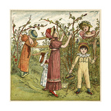 Five Children Picking Blackberries