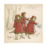 Three Girls in Snow 1900