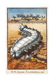 Caterpillar Tank Cartoon Scatters Fleeing Germans