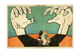 WW1 Cartoon  Large Hands