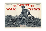Illustrated War News Front Cover  Soldier Writing Letter