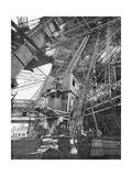 Paris  France - Tour Eiffel  Construction
