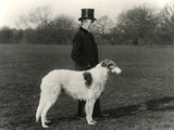 Thomas Fall with Borzoi