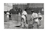 Cricket Match  England V Australia at the Oval 1882
