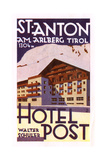 Label  Hotel Post  St Anton Am Arlberg  Tyrol  Austria