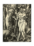 Adam and Eve Take the Apple in the Garden of Eden