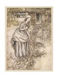 Female  Girl in Garden
