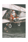 Father Christmas in an Aeroplane
