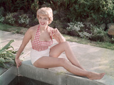Blonde by Pond 1950s