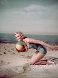 Beach Ball Girl  Woof