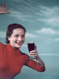 Girl and Guinness 1950s