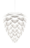 Conia 12'' White Pendant - Hard-wired