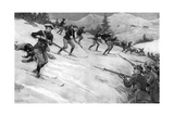 Charge of French Alpine Chasseurs in Alsace  WW1