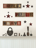 Hope Faith Love Americana Decals