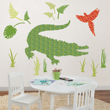 Amos the Crocodile Wall Art Kit
