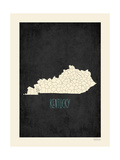 Black Map Kentucky