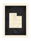 Black Map Utah