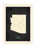 Black Map Arizona