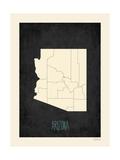 Black Map Arizona