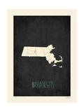 Black Map Massachussetts